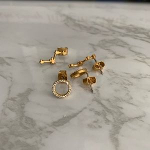 Madewell circle and star earrings set